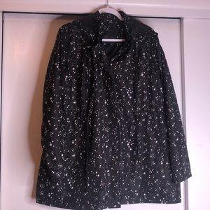 Star print rain jacket. Very lightweight
